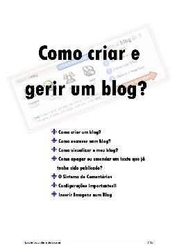 Como Criar e Gerir um Blog