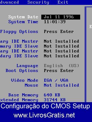 Configuração do CMOS Setup